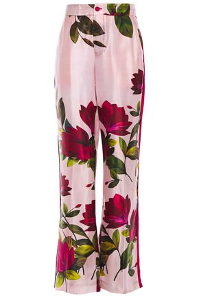 F.R.S. FOR RESTLESS SLEEPERS Carite floral-print satin straight-leg pants