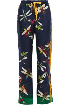 F.R.S. FOR RESTLESS SLEEPERS Ettore printed silk-twill wide-leg pants