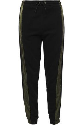 ÊTRE CÉCILE Shell-paneled cotton-fleece track pants