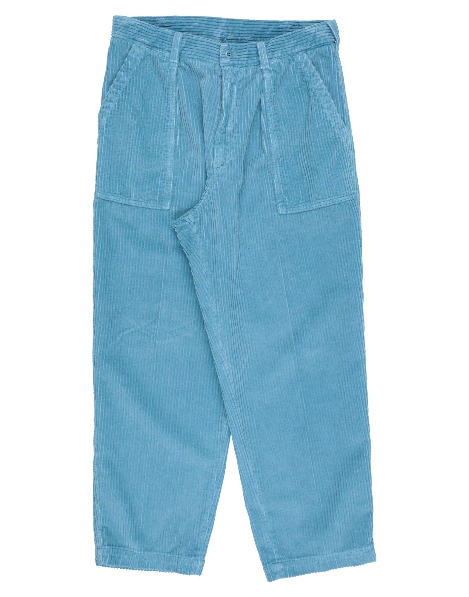 《セール開催中》CELLAR DOOR メンズ パンツ パステルブルー 44 コットン 100%