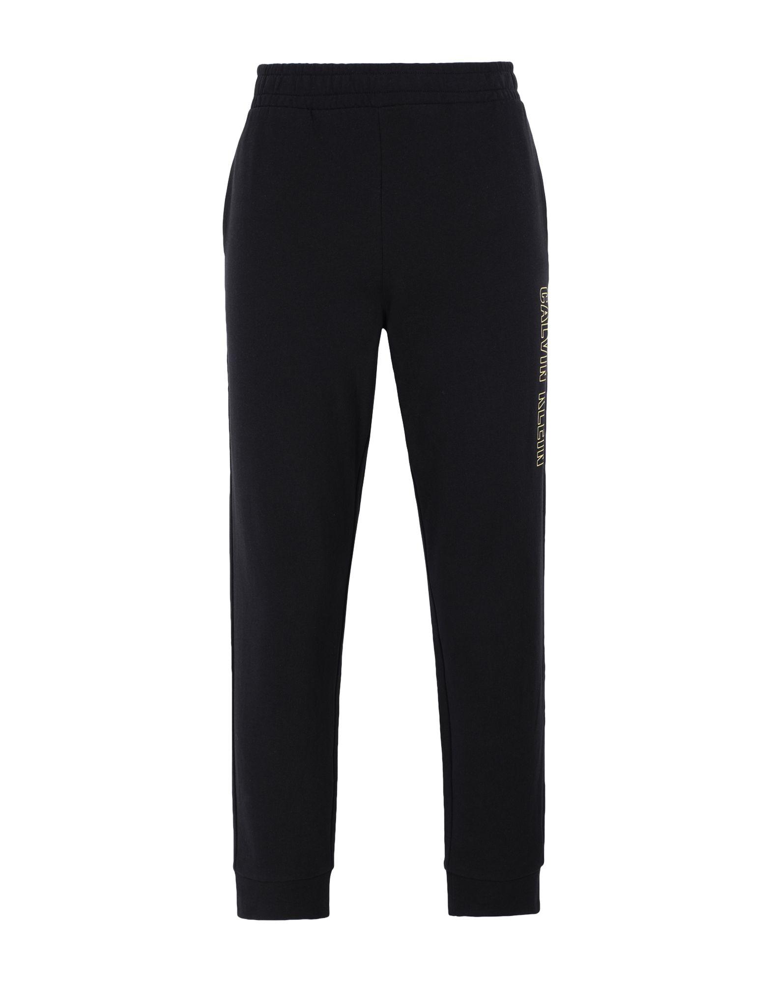 《セール開催中》CALVIN KLEIN PERFORMANCE メンズ パンツ ブラック S コットン 100% KNIT PANTS