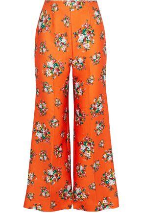 EMILIA WICKSTEAD Hullinie floral-print cloqué wide-leg pants