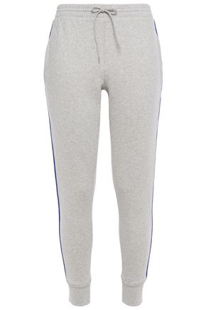 ÊTRE CÉCILE Jacquard-trimmed mélange cotton-fleece track pants