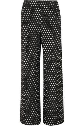 WE ARE LEONE Noah printed silk-blend satin wide-leg pants