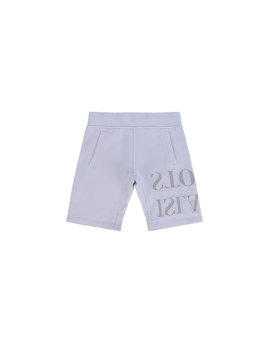 STONE ISLAND KIDS 61240  FLEECE BERMUDA SHORTS Man Lavender