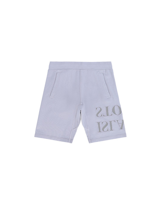 STONE ISLAND JUNIOR 61240  FLEECE BERMUDA SHORTS Man Lavender
