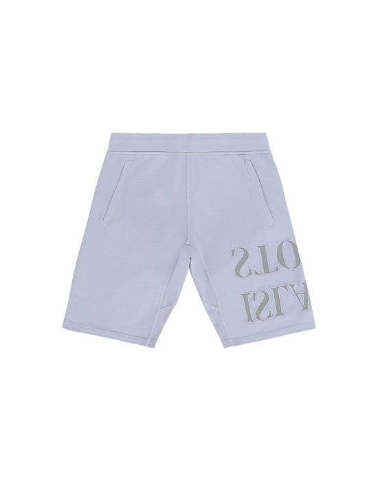 STONE ISLAND JUNIOR  FLEECE BERMUDA SHORTS Man Lavender