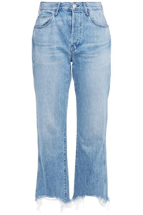3x1 Shelter Austin cropped high-rise bootcut jeans