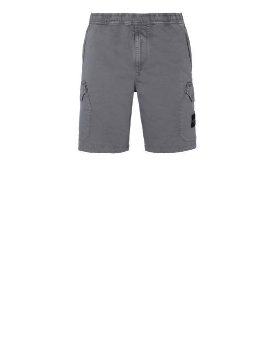 STONE ISLAND L0804 T.CO+OLD  Bermuda shorts Man Blue Grey