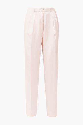 FORTE_FORTE Hammered silk-satin pants