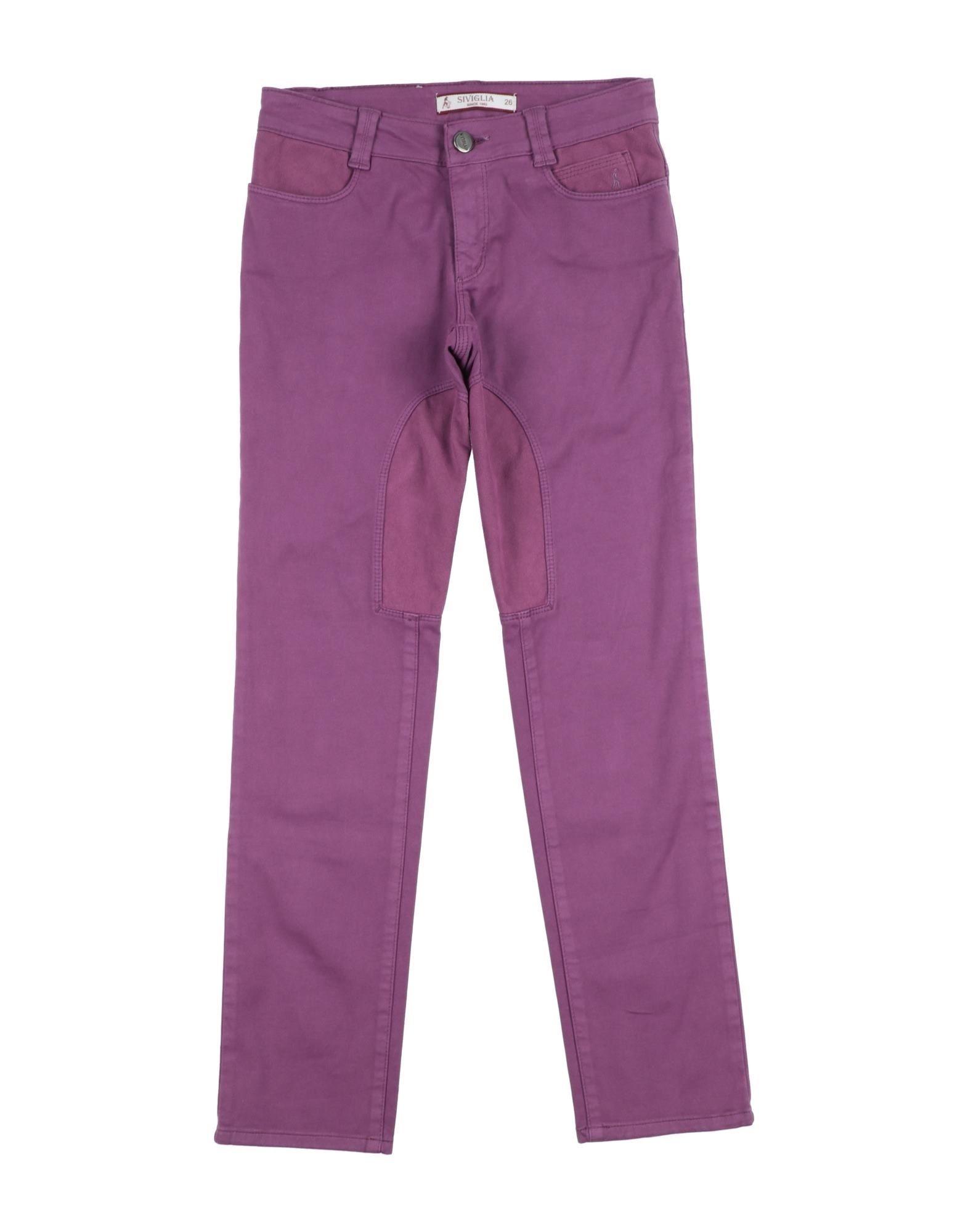 Siviglia Kids' Casual Pants In Purple