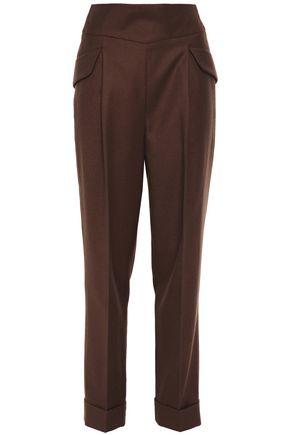 EMILIA WICKSTEAD Pleated wool-twill tapered pants