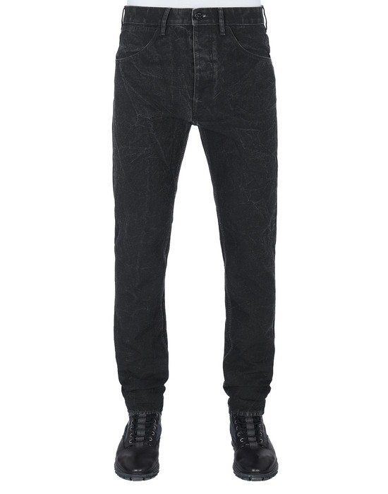 STONE ISLAND J01J1 PANAMA PLACCATO SL PANTS - 5 POCKETS Man Black
