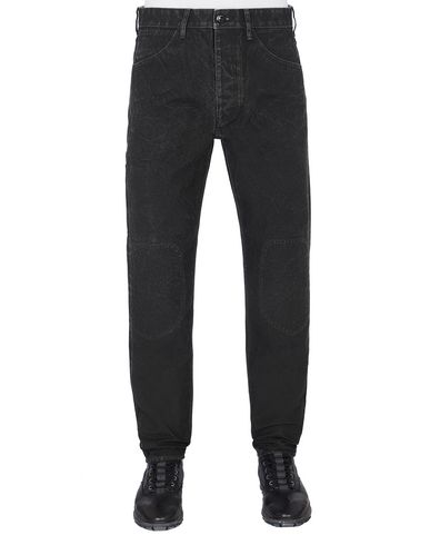 STONE ISLAND J03J1 PANAMA PLACCATO RE-T TROUSERS - 5 POCKETS Man Black EUR 243