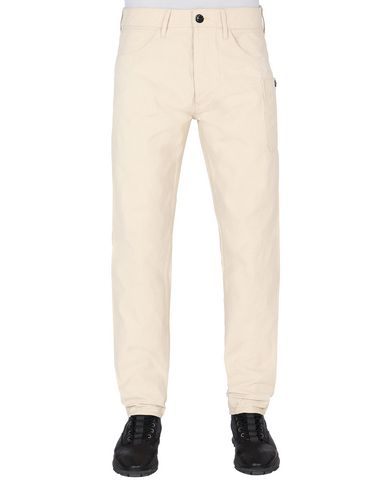 STONE ISLAND J04J1 PANAMA PLACCATO RE-T PANTS - 5 POCKETS Man Beige EUR 138