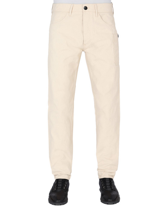 STONE ISLAND J04J1 PANAMA PLACCATO RE-T PANTS - 5 POCKETS Man Beige