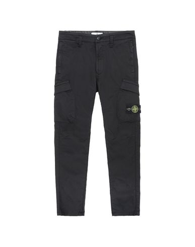 STONE ISLAND JUNIOR 30312   Pants Man Black USD 167