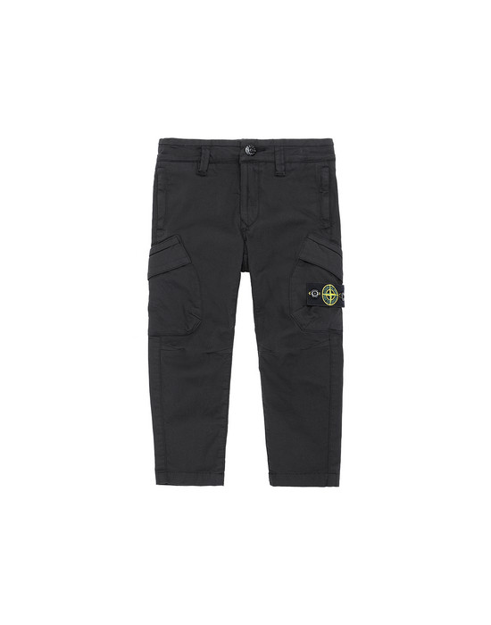 STONE ISLAND BABY 30312  Trousers Man Black