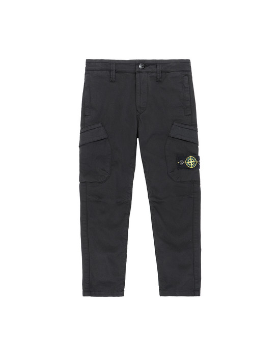 STONE ISLAND JUNIOR 30312   Trousers Man Black