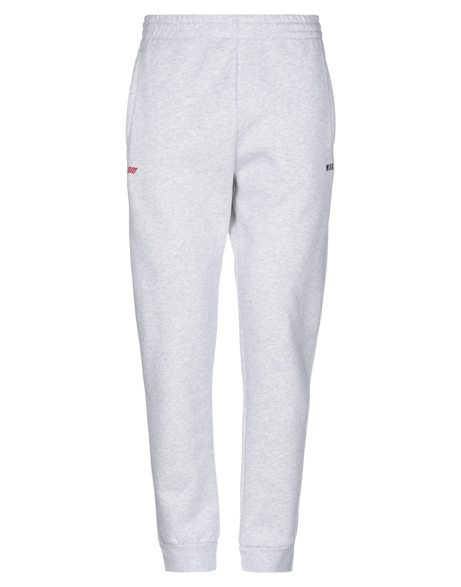 MSGM Casual pants. sweatshirt fleece, logo, high waisted, comfort fit, tapered leg, elasticized waist, multipockets, fleece lining, solid color, large sized. 100% Cotton