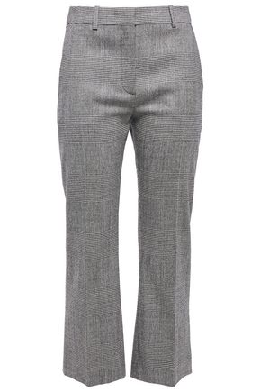 ALTUZARRA Prince of Wales checked wool-blend kick-flare pants
