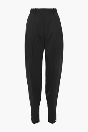 ALTUZARRA Pleated wool-blend tapered pants
