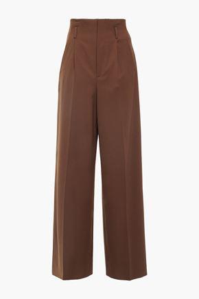 ALBERTA FERRETTI Pleated twill wide-leg pants