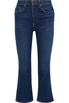 KHAITE Benny mid-rise kick-flare jeans