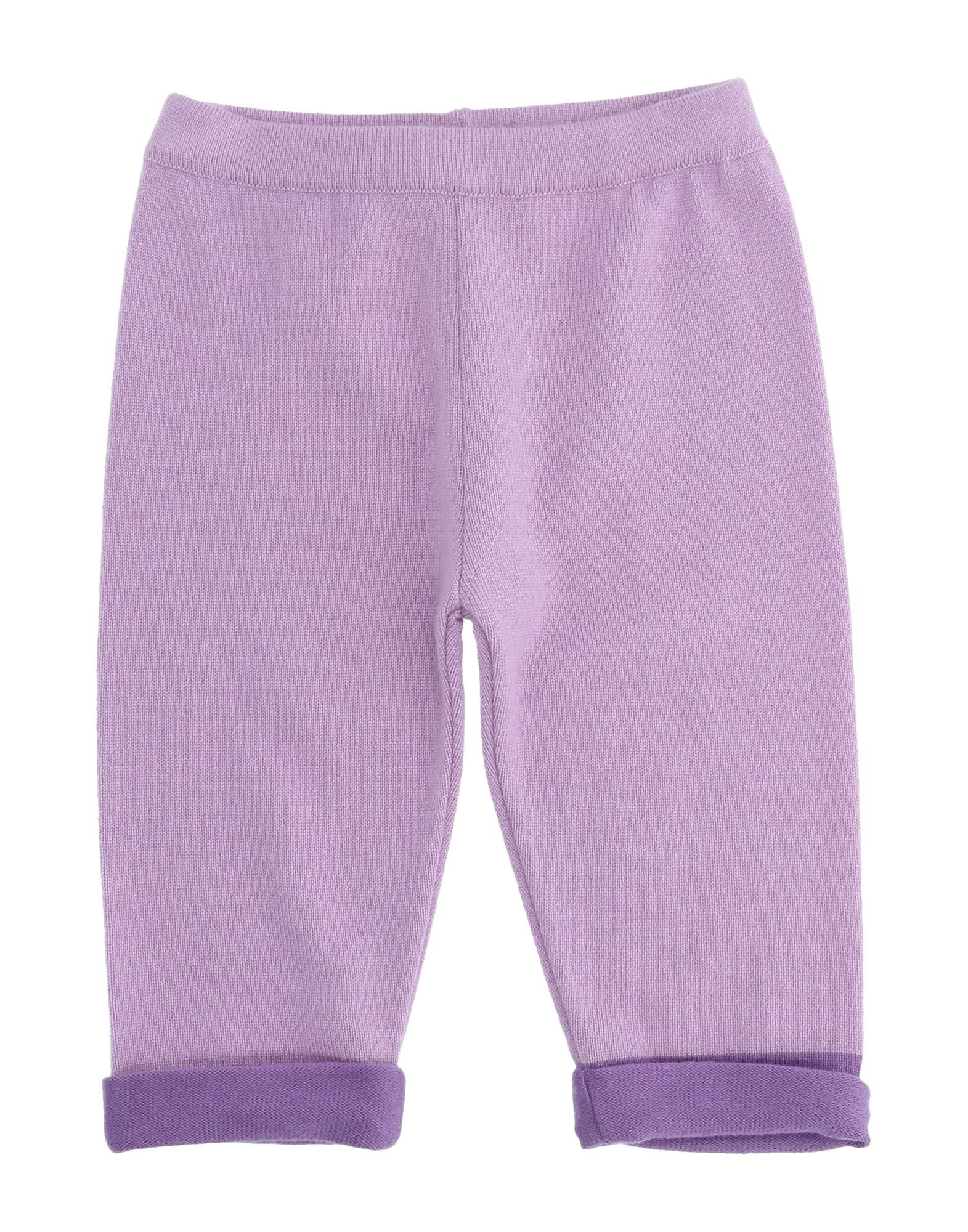 Kangra Cashmere Kids' Casual Pants In Purple