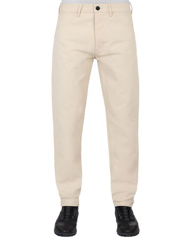 STONE ISLAND J02J1 PANAMA PLACCATO RE-T TROUSERS - 5 POCKETS Man Beige EUR 205