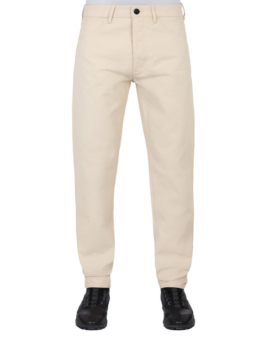 STONE ISLAND J02J1 PANAMA PLACCATO RE-T PANTS - 5 POCKETS Man Beige