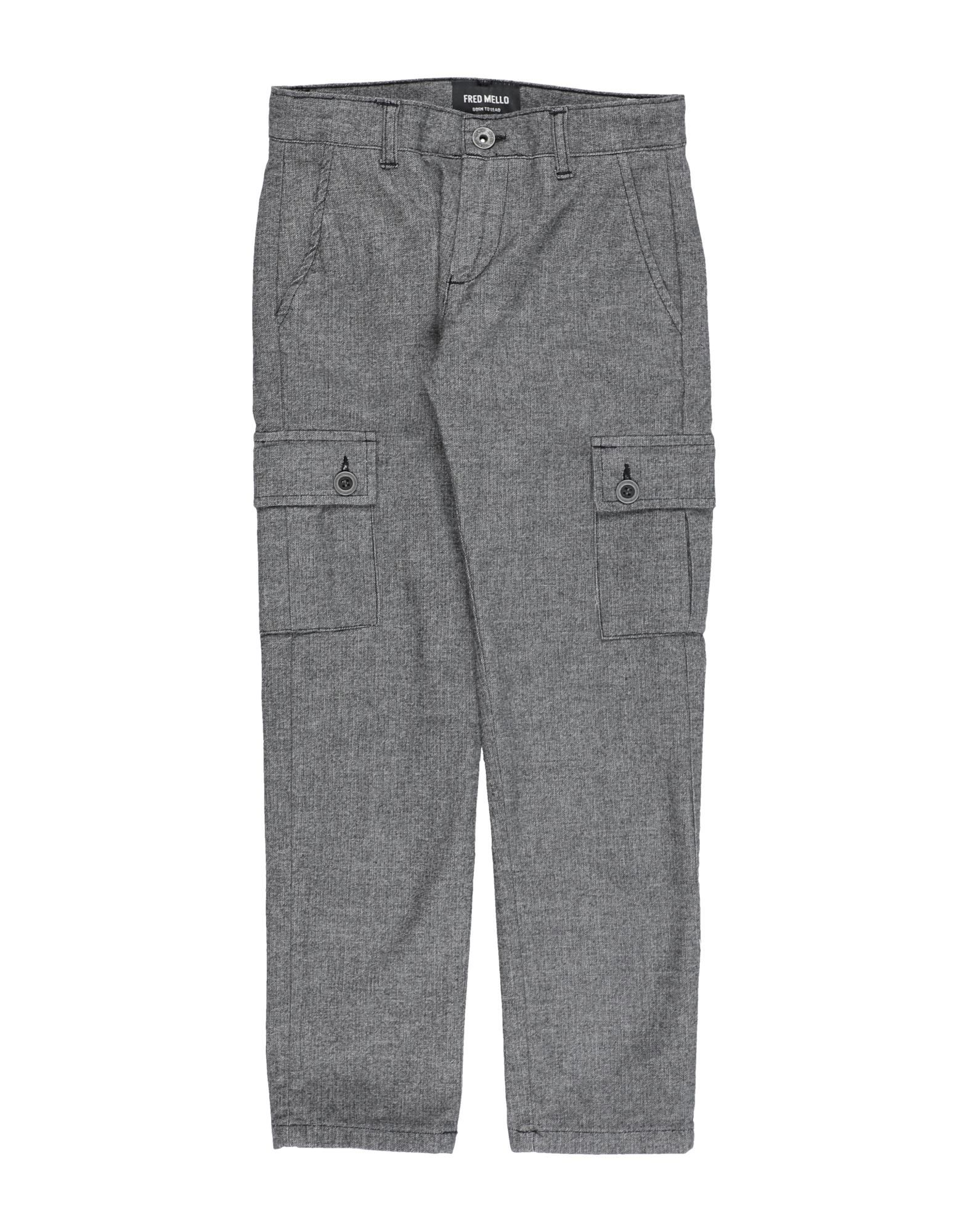 Fred Mello Kids' Casual Pants In Gray