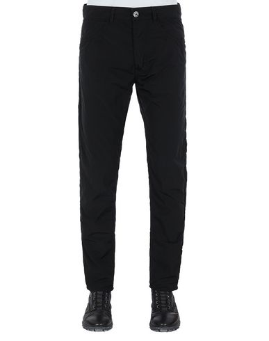 STONE ISLAND J01J2 NYLON TELA-TC SL TROUSERS - 5 POCKETS Man Black EUR 144