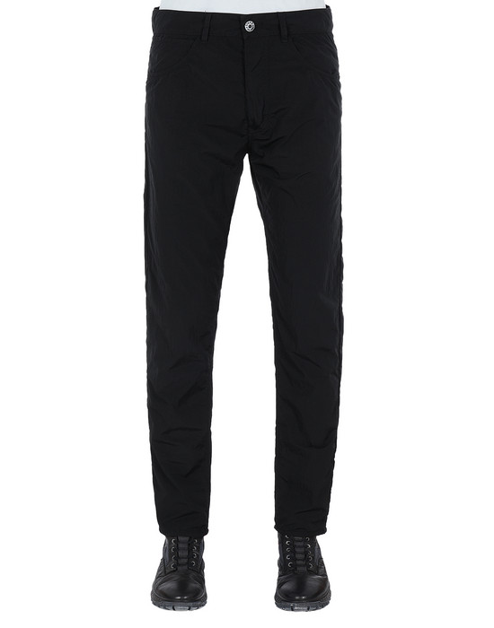 STONE ISLAND J01J2 NYLON TELA-TC SL PANTS - 5 POCKETS Man Black