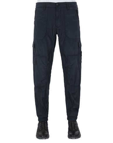 STONE ISLAND 32029 S.I.PA/PL SEERSUCKER-TC  Pants Man Blue USD 307