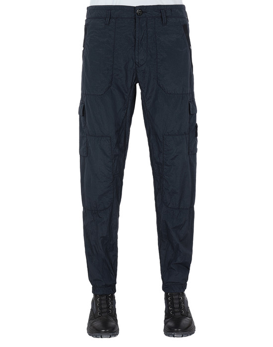 STONE ISLAND 32029 S.I.PA/PL SEERSUCKER-TC  Pants Man Blue