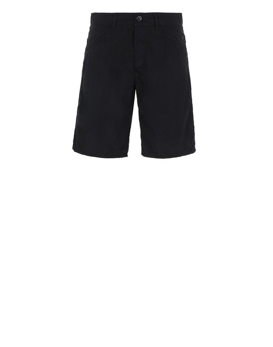 STONE ISLAND L11J2 NYLON TELA-TC RE Bermuda shorts Man Black