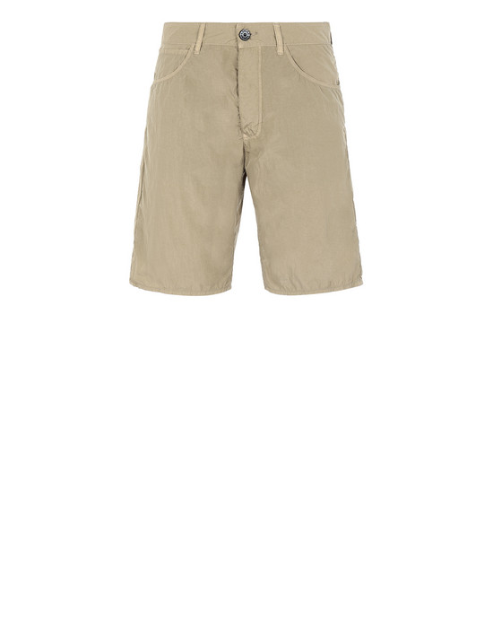 STONE ISLAND L11J2 NYLON TELA-TC RE Bermuda shorts Man Dark Beige