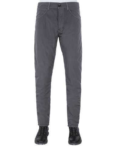 STONE ISLAND J01J2 NYLON TELA-TC SL PANTS - 5 POCKETS Man Blue Grey EUR 166