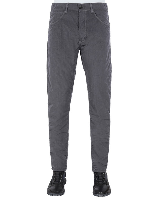 STONE ISLAND J01J2 NYLON TELA-TC SL PANTS - 5 POCKETS Man Blue Grey