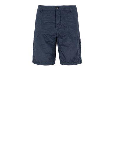 STONE ISLAND L1029 S.I.PA/PL SEERSUCKER-TC Bermuda shorts Man Marine Blue EUR 250