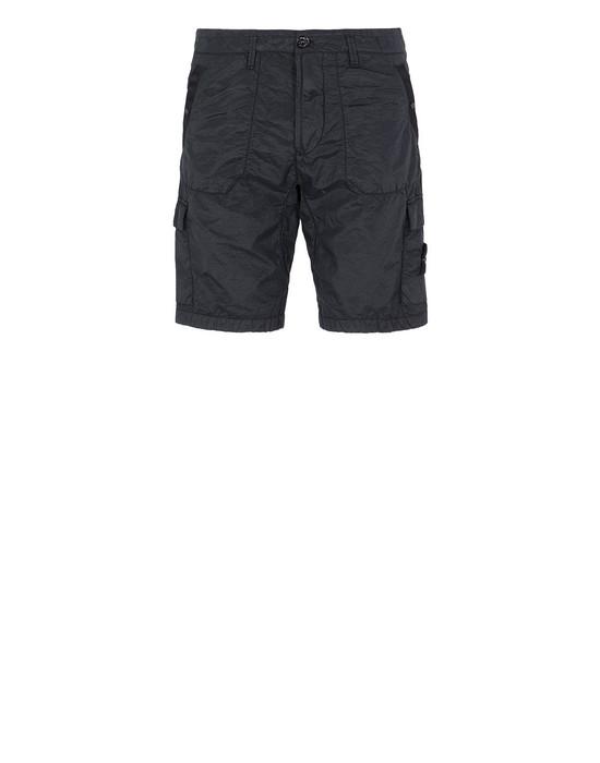 STONE ISLAND L1029 S.I.PA/PL SEERSUCKER-TC Bermuda shorts Man Black