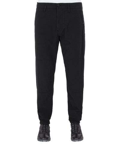 STONE ISLAND 32237 SEERSUCKER CO-TC Trousers Man Black EUR 243