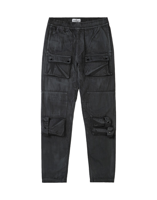 STONE ISLAND JUNIOR 30536 BRUSH TREATMENT Pants Man Black