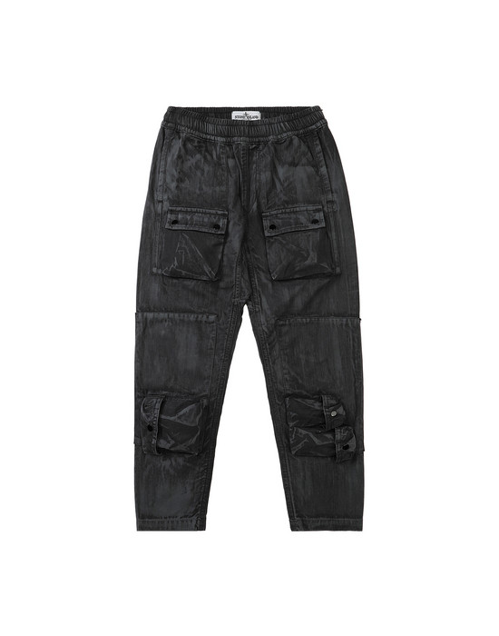 Pants Man 30536 BRUSH TREATMENT Front STONE ISLAND KIDS