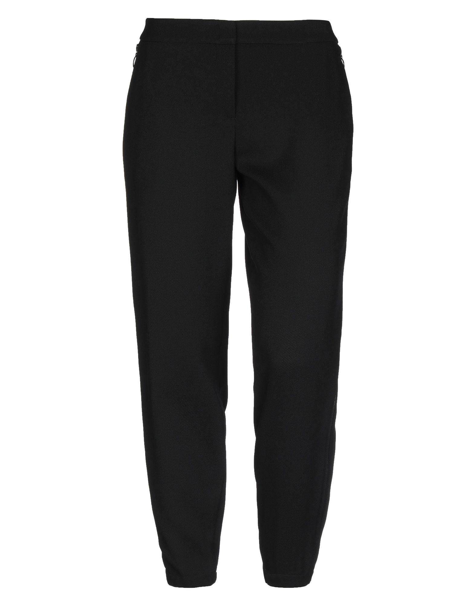 AKRIS PUNTO Casual pants. plain weave, no appliqués, basic solid color, mid rise, regular fit, tapered leg, hook-and-bar, zip, multipockets. 60% Acetate, 40% Viscose
