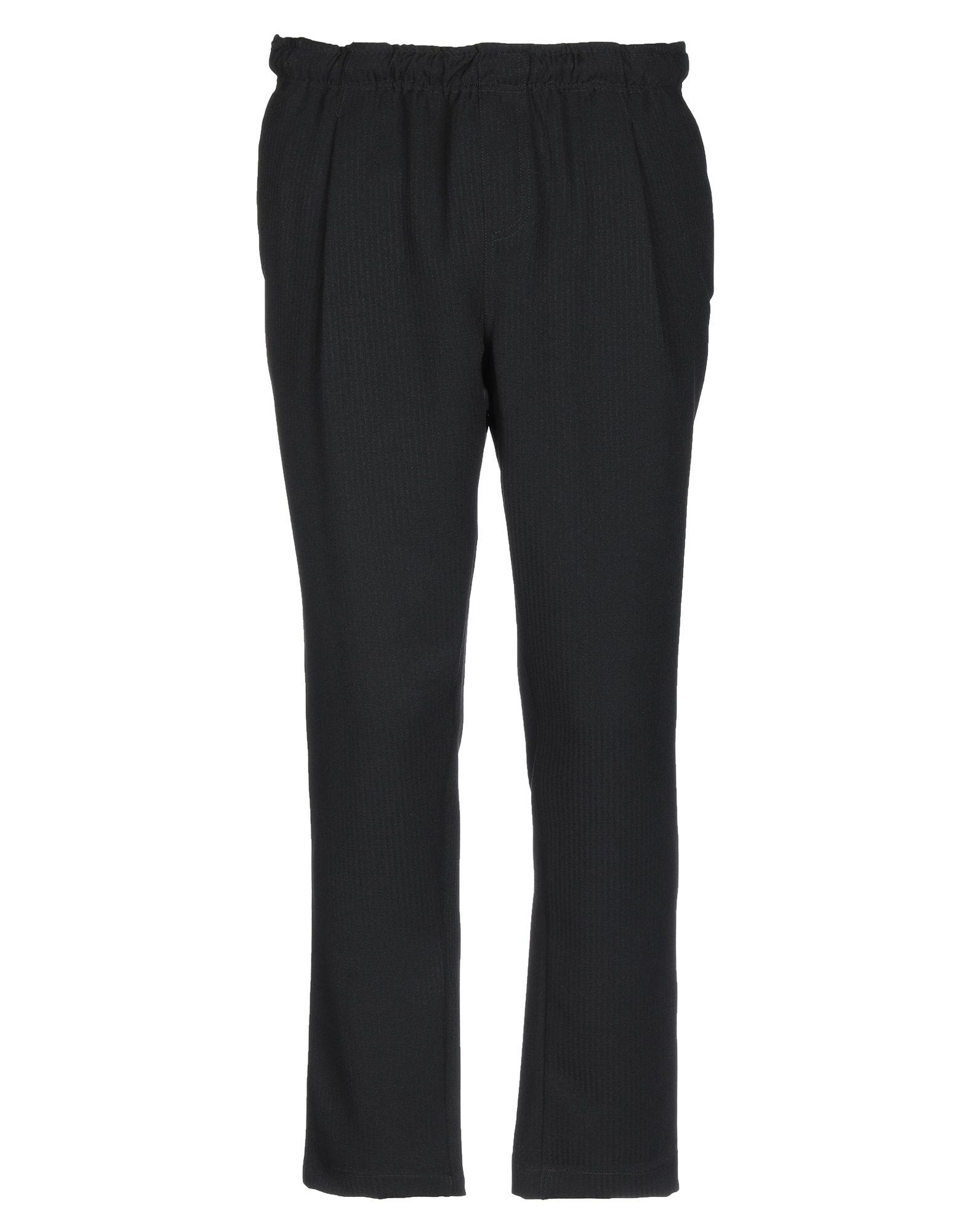 《セール開催中》THE KINGLESS COLLECTIVE メンズ パンツ ブラック L ポリエステル 95% / ポリウレタン 5%