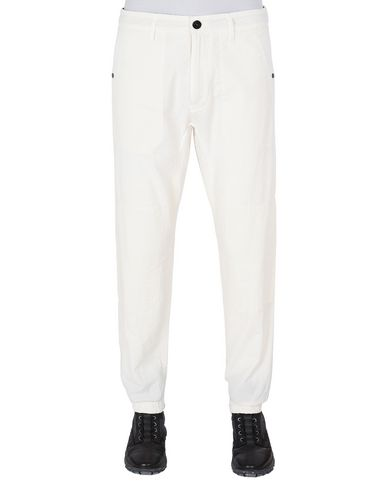 STONE ISLAND 32237 SEERSUCKER CO-TC Pants Man Ivory EUR 270