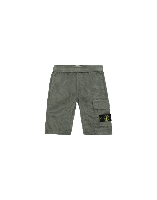 STONE ISLAND JUNIOR L0315 NYLON METAL RIPSTOP Bermuda shorts Man Sage Green