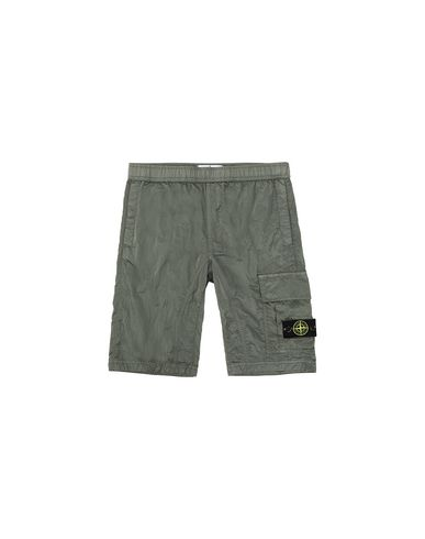 STONE ISLAND JUNIOR Bermuda shorts Man L0315 NYLON METAL RIPSTOP f